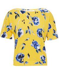 Carolina Herrera Floral-print Knitted T-shirt - Yellow
