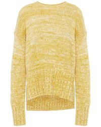 Vince Marled Wool And Cashmere-blend Jumper - Yellow