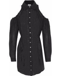 Haute Hippie - Cold-shoulder Linen And Cotton-blend Gauze Tunic - Lyst