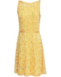 Missoni Broderie Anglaise Crochet-knit Dress Yellow