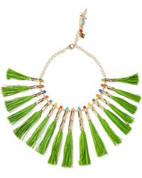 Rosantica - Aloha Gold-tone, Raffia And Quartz Necklace - Lyst