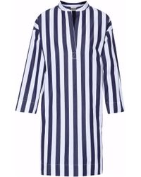 Sleepy Jones - Striped Cotton Night Dress - Lyst