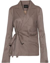 W118 by Walter Baker - Patricia Pleated Houndstooth Woven Wrap Blazer - Lyst