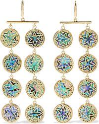 Noir Jewelry - Woman 14-karat Gold-plated Iridescent Resin Earrings Gold - Lyst