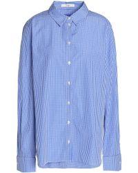 Tibi - Gingham Cotton-poplin Shirt - Lyst