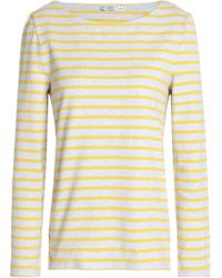 Petit Bateau Striped Cotton-jersey Top Yellow