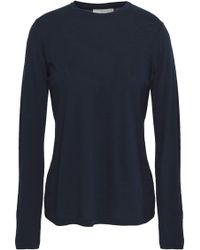 Vince - Cotton And Cashmere-blend Top - Lyst