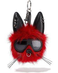 Stella McCartney - Embellished Faux Fur Keychain - Lyst