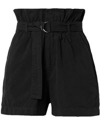 Bassike Belted Cotton-canvas Shorts - Black
