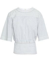 Sonia Rykiel - Striped Cotton-jacquard Top - Lyst