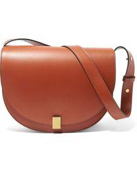 Victoria Beckham Woman Half Moon Leather Shoulder Bag Brown