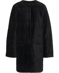 Majestic Filatures Jacke aus samt aus einer gesteppten baumwoll-modalmischung - Schwarz