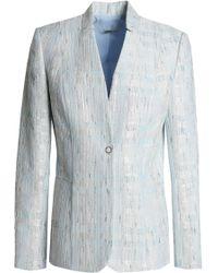 Elie Tahari - Monet Bouclé-tweed Blazer Sky Blue - Lyst