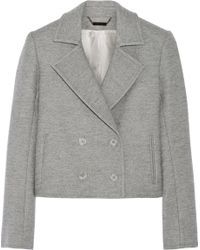 Wes Gordon Cropped Double-breasted Wool-blend Blazer