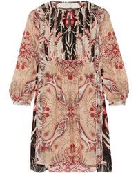 Rachel Zoe - Lucia Printed Silk Crepe De Chine Mini Dress - Lyst