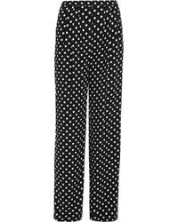 MICHAEL Michael Kors - Polka-dot Crepe Wide-leg Trousers - Lyst