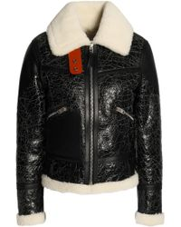 COACH - Crackled Shearling Aviator Jacket - Lyst
