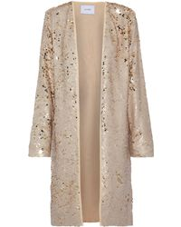 We Are Leone Sequined Woven Jacket Gold - Metallic