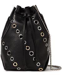 IRO Hofa Eyelet-embellished Leather Bucket Bag - Black