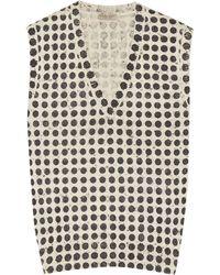 Bottega Veneta Polka-dot Wool-blend Jumper - Grey