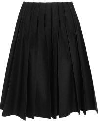 Junya Watanabe Pleated Wool-felt Skirt - Black
