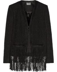 Maiyet - Fringed Tweed And Alpaca-blend Jacket - Lyst