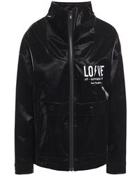 Love Moschino Embroidered Coated-cotton Jacket - Black