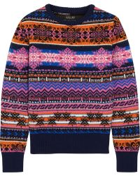 Sibling - Fair Isle Wool Sweater - Lyst