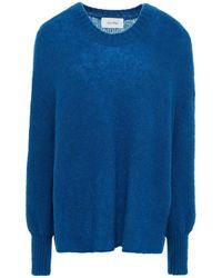 American Vintage Brushed Knitted Sweater Cobalt Blue