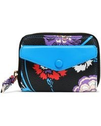 Emilio Pucci - Printed Faux Leather Wallet - Lyst
