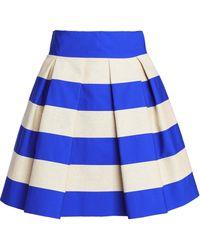 Delpozo Knee Length Skirt - Blue