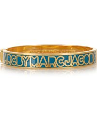 Marc By Marc Jacobs - Gold-tone And Enamel Cuff - Lyst