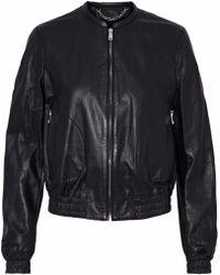 Belstaff - Leather Bomber Jacket - Lyst