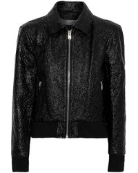 IRO - Faces Cracked Patent-leather Jacket Black - Lyst