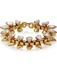 Elizabeth Cole - Carter Gold-plated Swarovski Crystal Bracelet - Lyst