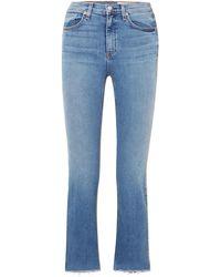 Rag & Bone Hana Straight Leg Jeans - Blue