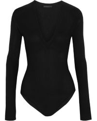 Donna Karan - Stretch-jersey Bodysuit - Lyst