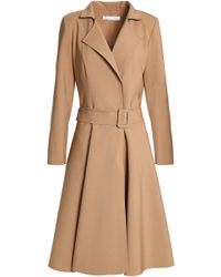 Oscar de la Renta - Pleated Wool And Cashmere-blend Coat - Lyst