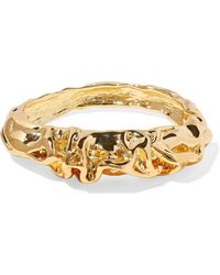 Kenneth Jay Lane Hammered Gold-plated Bangle Gold - Metallic