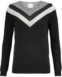 Madeleine Thompson - Thilia Intarsia Wool And Cashmere-blend Sweater - Lyst