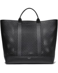 Michael Kors Georgica Extra-large Perforated Leather Tote Black