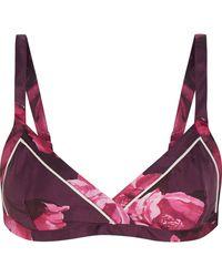 F.R.S For Restless Sleepers - Aglia Floral-print Silk-twill Bra Top - Lyst