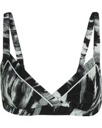 F.R.S For Restless Sleepers   Aglaia Printed Silk-twill Bra   Lyst