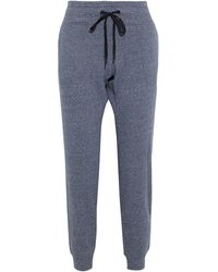 DKNY Iridescent Printed Cotton-blend Fleece Track Pants - Multicolor