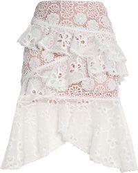 Alexis Midi Skirt - White