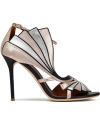 Malone Souliers - Cutout Metallic Leather Sandals - Lyst