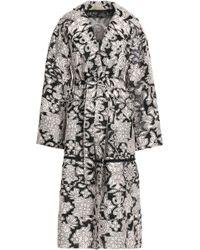 Roland Mouret - Fil Coupé Cotton And Silk-blend Trench Coat Pastel Pink - Lyst