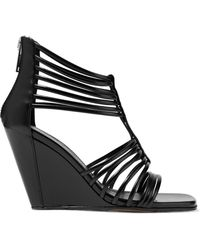 Rick Owens - Mignon Leather Wedge Sandals - Lyst