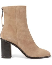 Rag & Bone - Blyth Studded Suede Ankle Boots - Lyst