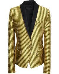 Haider Ackermann Silk-jacquard Blazer Yellow
